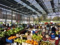 フィゲラス、ムントリオル通りの生鮮市場の様子 撮影:諸橋英二