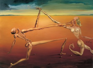 サルバドール・ダリ《ダンス(ロックンロールの七つの芸術)》1957年 諸橋近代美術館蔵