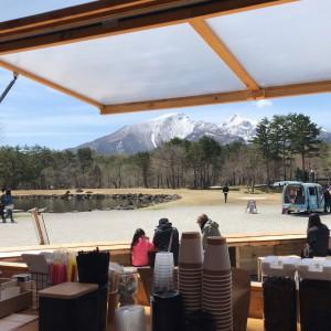 磐梯山を眺めながら心地よい時間を!