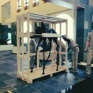 7月3日 展示替え休館にて宇宙像の移動