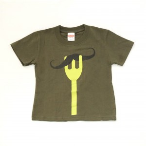 【KIDS】フォーク・ひげTシャツ ¥1,980