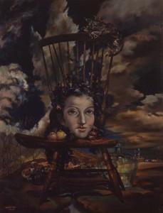 古沢岩美《女幻》1947年 油彩・キャンバス 板橋区立美術館蔵