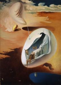 浜田浜雄《タイム・キーパー》1938年 油彩・キャンバス 米沢市上杉博物館蔵
