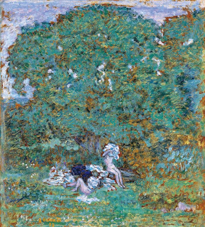 ピエール・ボナール《水浴する女達のいる森の風景》(1899)諸橋近代美術館蔵