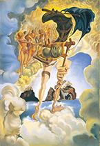 サルバドール・ダリ《日没大気の寓話》1940年