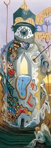 サルバドール・ダリ《蝶のいる時の塔》1964年