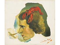 Portrait of Gala with Lobster